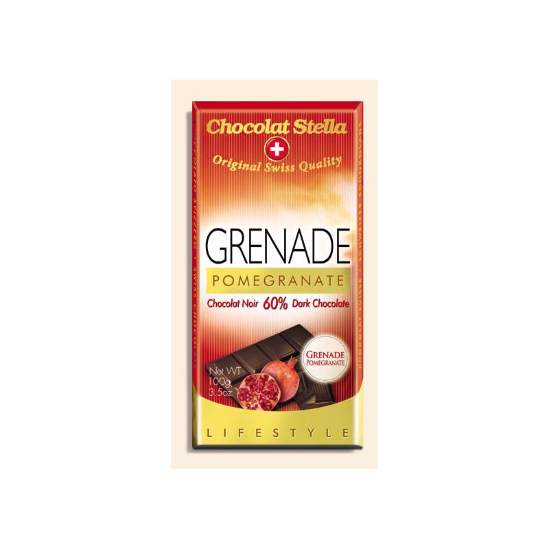 Hořká čokoláda s granátovým jablkem