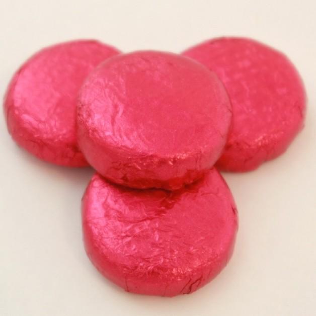 Růžový krém v hořké čokoládě
