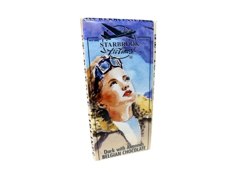 Velká hořká čokoláda Starbrook s mandlemi