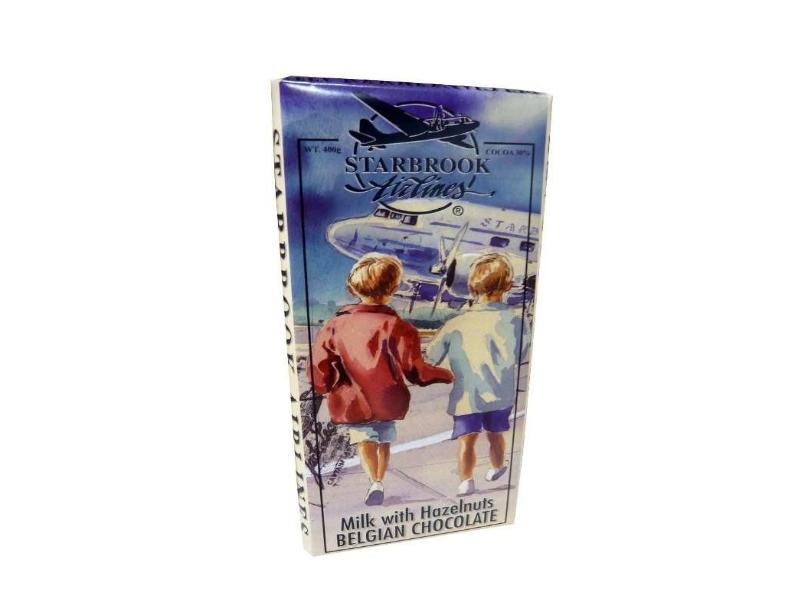 Velká mléčná čokoláda Starbrook s ořechy