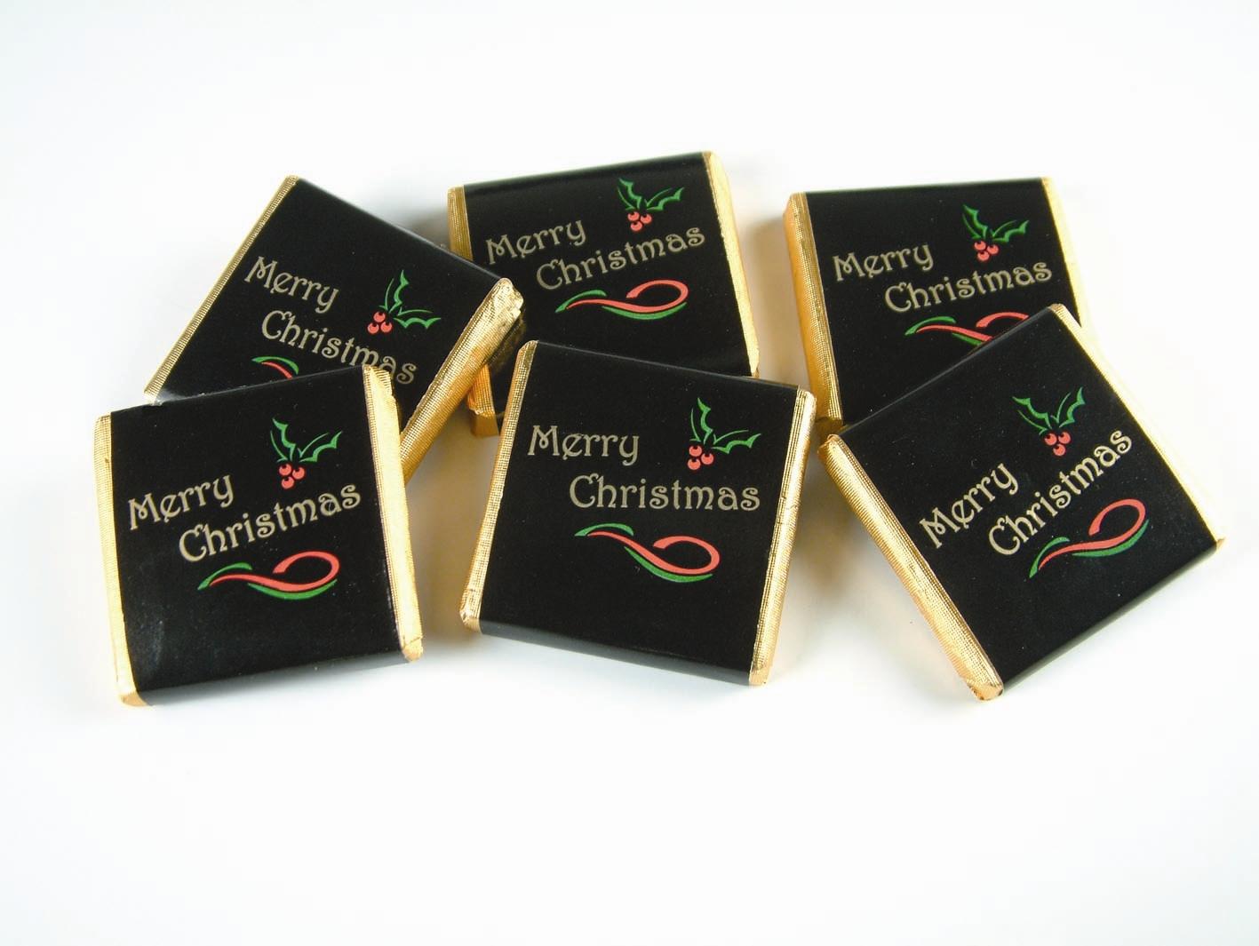 Vánoční čokoládky černé