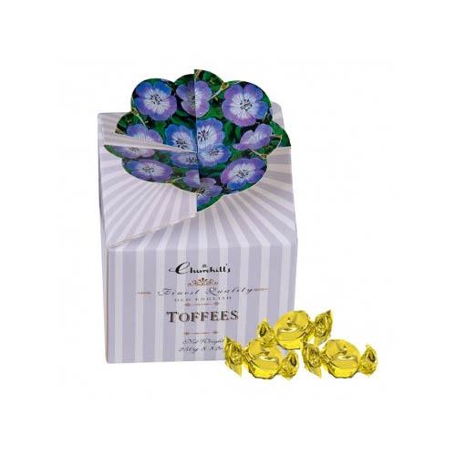 Karamely modré květy