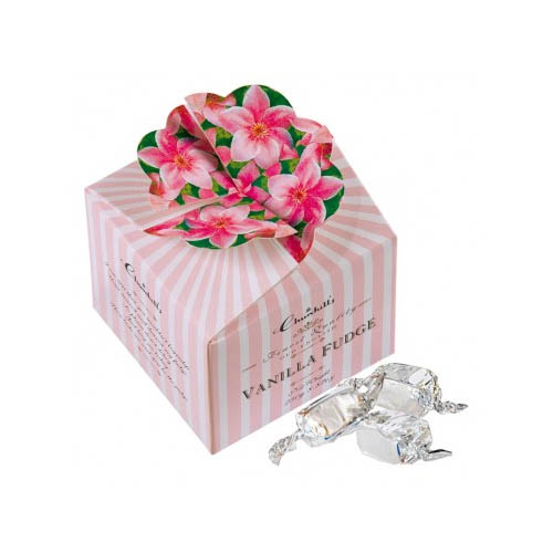 Vanilkový fudge růžové květy
