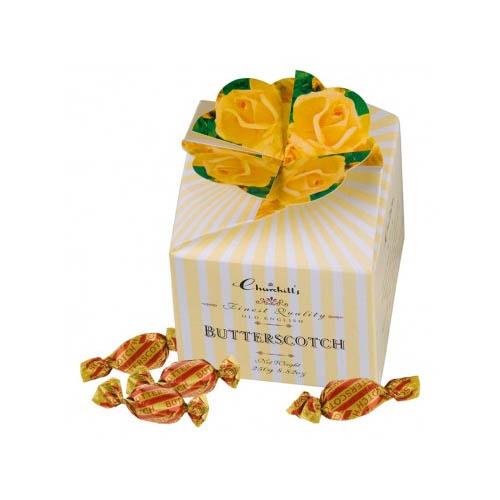 Máslové karamely žluté květy