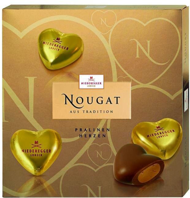 Nugátový srdíčkový box